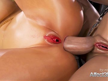 Affect3d enormous boobs princesses in a futanari 3d animation