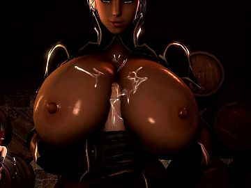 TES Elf with Big Tits 3D Hentai Titjob Handjob