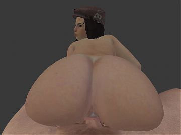 blender 3d Reverse cowgirl Test piper wright