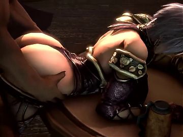Big Ass Ivy From behind and titfuck (Soul Calibur 3D Hentai)