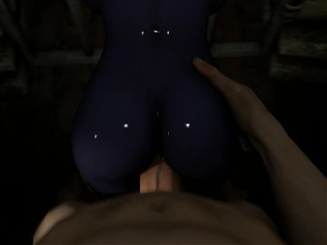 3D Hentai Queen Nualia Blue Skin Prison Fuck Part 1