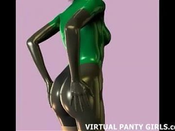 3d animated stripper dancing in white lingerie