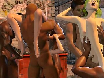3d backalley orgy