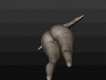 A sketch a enormous booty3d